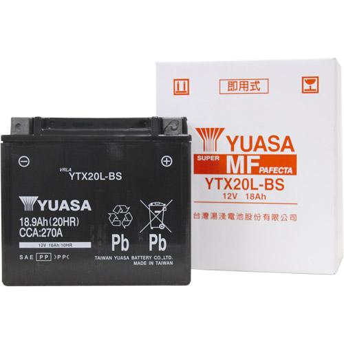 バイクパーツ バイクバッテリーTYTX20L-BS (YTX20L-BS 互換)台湾ユアサ YTX20L-BS 取寄品