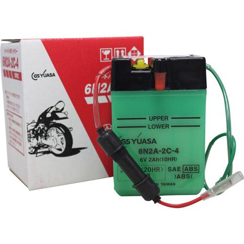 バイクパーツ バイクバッテリー6N2A-2C-4GSユアサ 6N2A-2C-4 取寄品