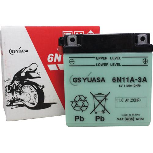 バイクパーツ バイクバッテリー6N11A-3AGSユアサ 6N11A-3A 取寄品