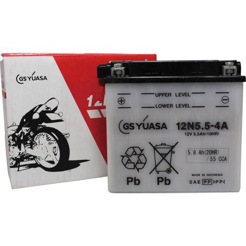 バイクパーツ バイクバッテリー12N5.5-4AGSユアサ 12N5.5-4A 取寄品