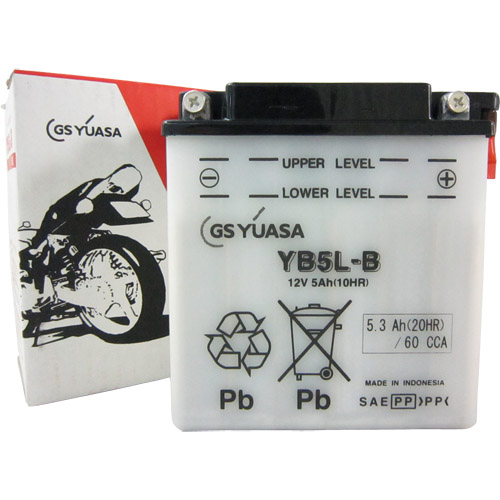 バイクパーツ バイクバッテリーYB5L-BGSユアサ YB5L-B 取寄品