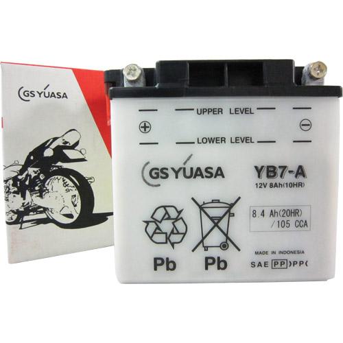バイクパーツ バイクバッテリーYB7-AGSユアサ YB7-A 取寄品