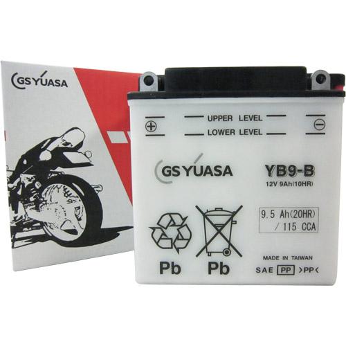 バイクパーツ バイクバッテリーYB9-BGSユアサ YB9-B 取寄品