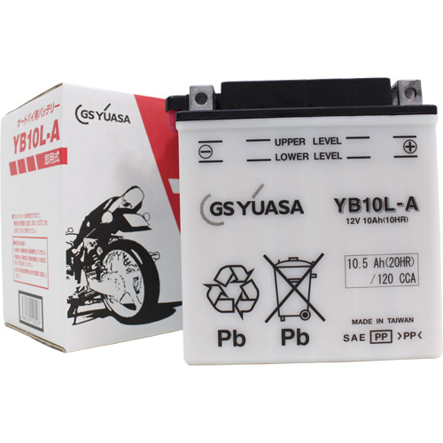 バイクパーツ バイクバッテリーYB10L-AGSユアサ YB10L-A 取寄品