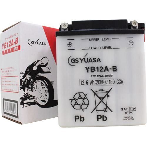バイクパーツ バイクバッテリーYB12A-BGSユアサ YB12A-B 取寄品