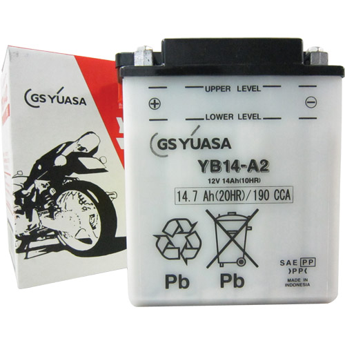 バイクパーツ バイクバッテリーYB14-A2GSユアサ YB14-A2 取寄品