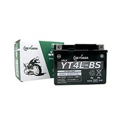 バイクパーツ バイクバッテリー【1個売り】YT4L-BSGSユアサ YT4L-BS 取寄品