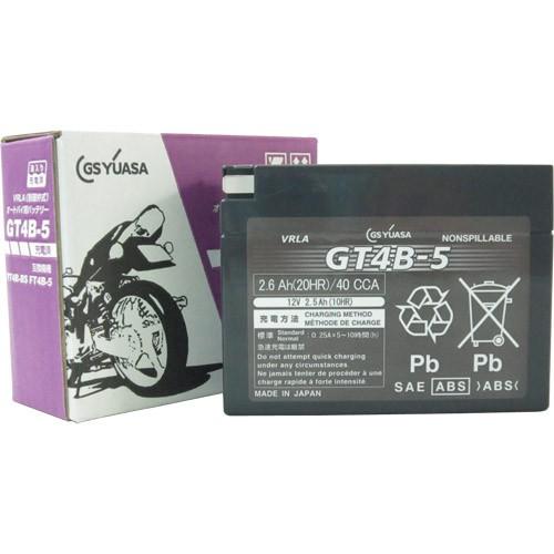 バイクパーツ バイクバッテリーGT4B-5(液入充電済)GSユアサ GT4B-5 取寄品