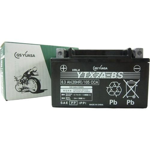 バイクパーツ バイクバッテリーYTX7A-BSGSユアサ YTX7A-BS 取寄品