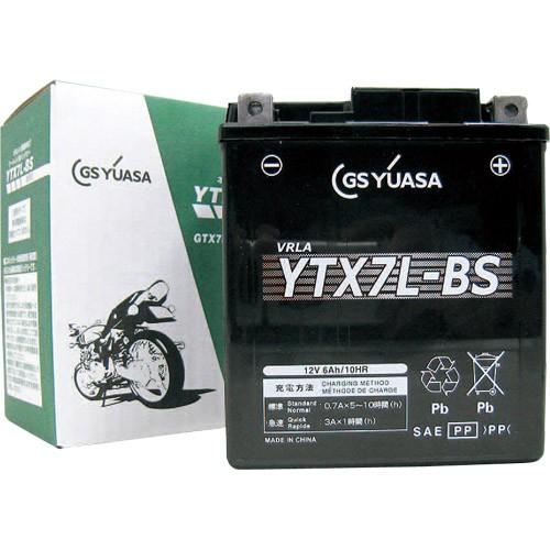 バイクパーツ バイクバッテリーYTX7L-BSGSユアサ YTX7L-BS 取寄品