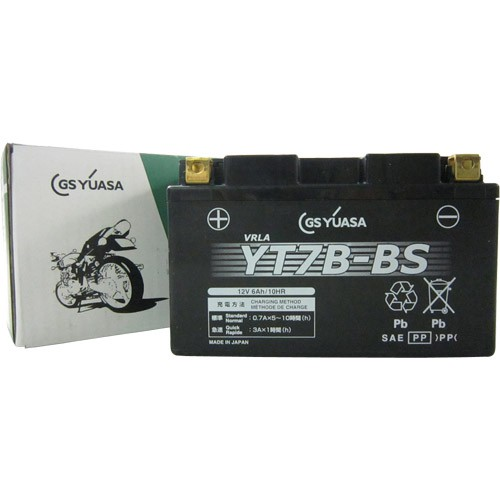 バイクパーツ バイクバッテリーYT7B-BSGSユアサ YT7B-BS 取寄品