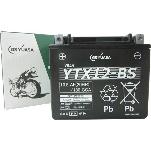 バイクパーツ バイクバッテリーYTX12-BSGSユアサ YTX12-BS 取寄品