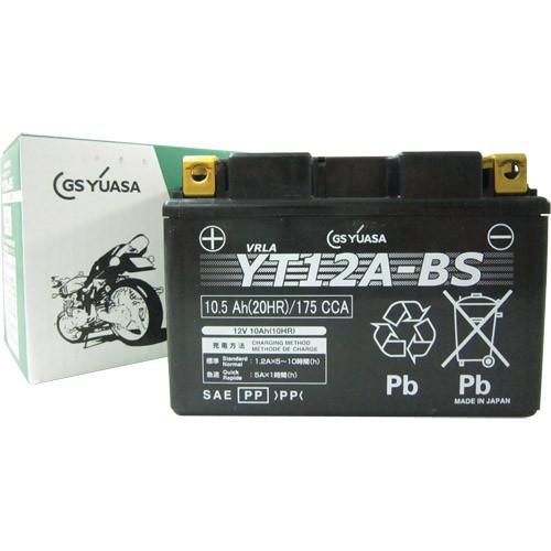バイクパーツ バイクバッテリーYT12A-BSGSユアサ YT12A-BS 取寄品