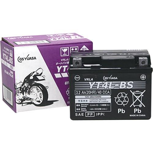 バイクパーツ バイクバッテリーYT4L-BS(液入充電済)GSユアサ YT4L-BS 取寄品