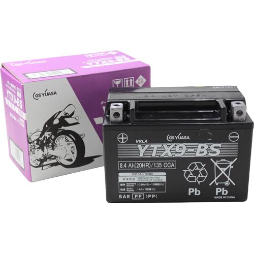 バイクパーツ バイクバッテリーYTX9-BS(液入充電済)GSユアサ YTX9-BS 取寄品