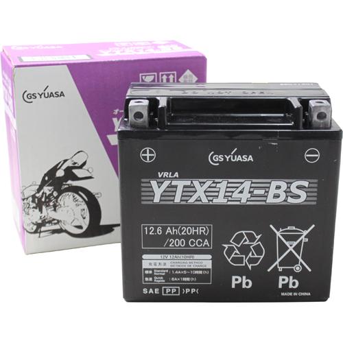バイクパーツ バイクバッテリーYTX14-BS(液入充電済)GSユアサ YTX14-BS 取寄品