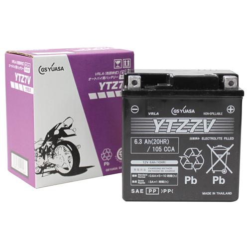 バイクパーツ バイクバッテリーYTZ7V(液入充電済)GSユアサ YTZ7V-GY-C 取寄品