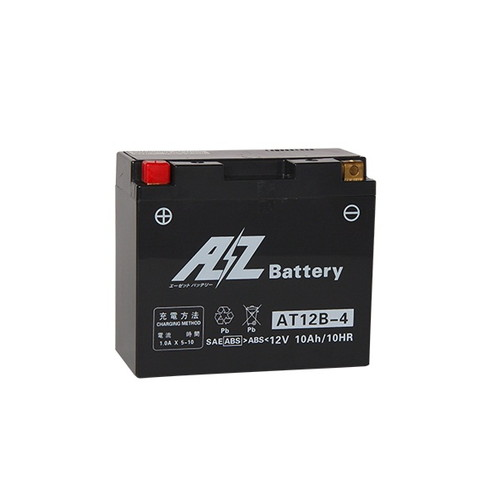 バイクパーツ バイクバッテリーAT12B-4 (YT12B-BS、GT12B-4 互換)(液入充電済)AZ バッテリー AT12B-4 取寄品