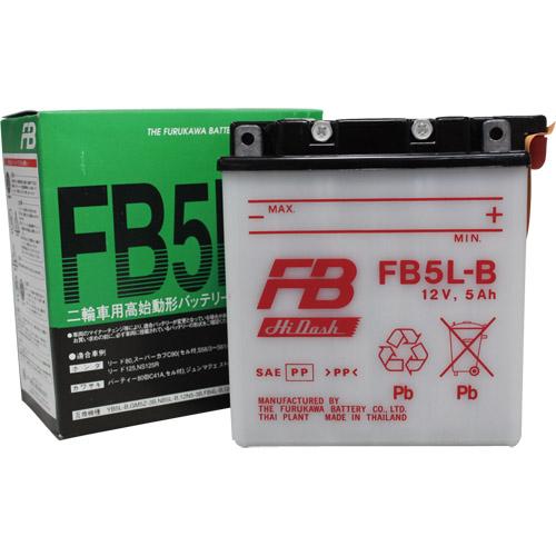 バイクパーツ バイクバッテリーFB5L-B (YB5L-B 互換)古河電池 FB5L-B 取寄品