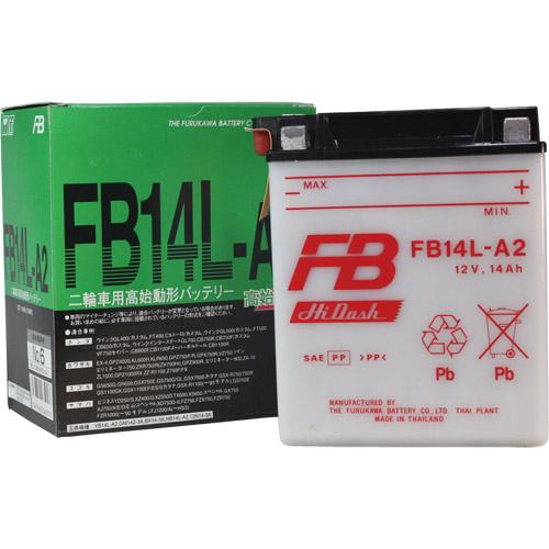 バイクパーツ バイクバッテリーFB14L-A2 (YB14L-A2 互換)古河電池 FB14L-A2 取寄品