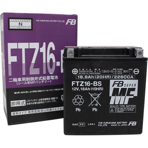 バイクパーツ バイクバッテリーFTZ16-BS古河電池 FTZ16-BS 取寄品