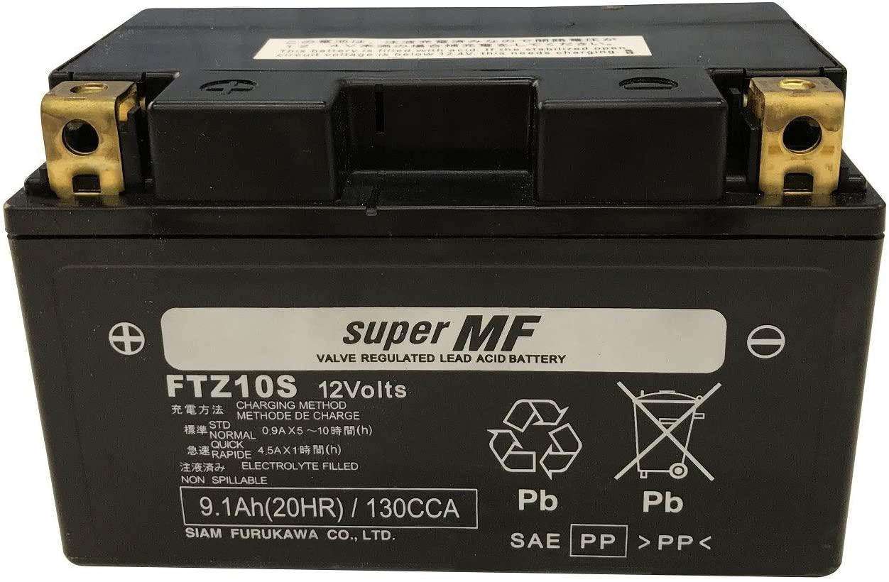 バイクパーツ バイクバッテリーFTZ10S (YTZ10S 互換)(液入充電済)古河電池 FTZ10S 取寄品