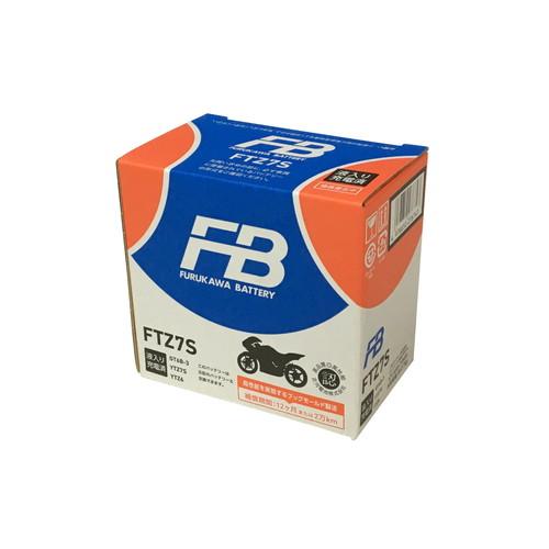 バイクパーツ バイクバッテリーFTZ7S (YTZ7S 互換)(液入充電済)古河電池 FTZ7S 取寄品