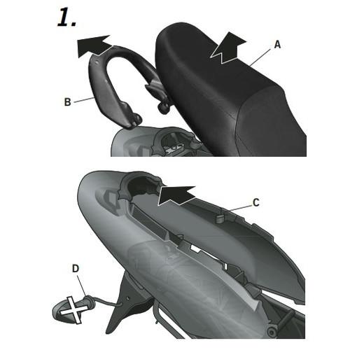 バイクパーツ フィッティングキットサイドバックフィッティングキット FULL GSX 750-04SHAD(シャッド) S0GS74SF 取寄品 セール