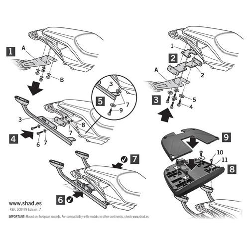バイクパーツ フィッティングキットトップマスターフィッティングキット MT07TRACER'16SHAD(シャッド) Y0MT76ST 取寄品