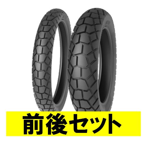 バイクパーツ バイクタイヤ セット売り TS823 100/90-19 F 57P 120/90-18 F/R 65P TL 前後セットTIMSUN (ティムソン) 取寄品