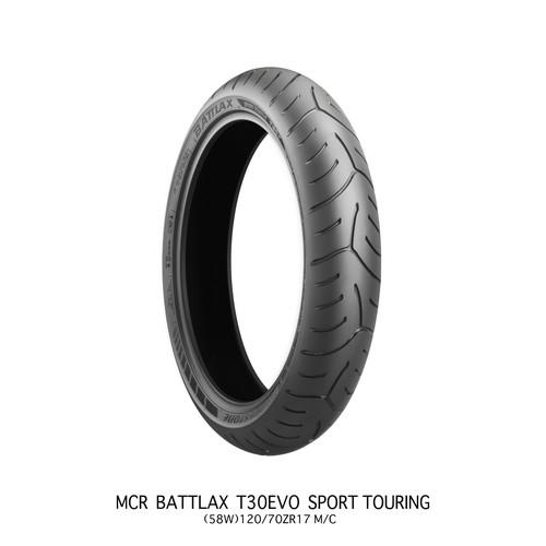 バイクパーツ バイクタイヤATTLAX SPORT TOURING T30EVO 110/80R 18FM/C58V TLBRIDGESTONE(ブリヂストン) MCR05130 取寄品