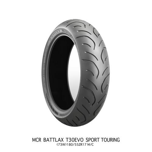 バイクパーツ バイクタイヤBATTLAX SPORT TOURING T30 EVO T30RAZ 180/55ZR17 M/C 73W TLBRIDGESTONE(ブリヂストン) MCR05118 取寄品
