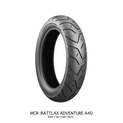 バイクパーツ バイクタイヤBATTLAX ADVENTURE A40 A40RZ 150/70R17 69V TLBRIDGESTONE(ブリヂストン) MCR00011 取寄品