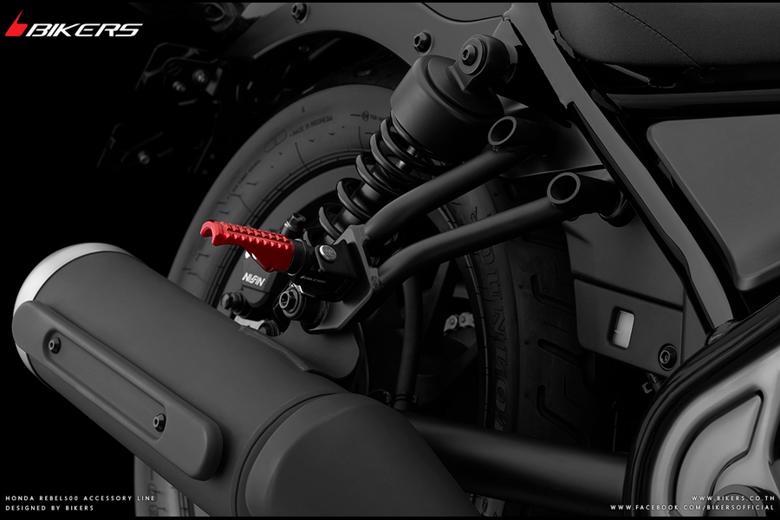 バイク用品 ステップ ステップ&ステップボード&タンデムキットバイカーズ BIKERS RRフットレスト レッド Rebel500 250 17-19 CB250R 125R 18-19H0419-RED 4549950837978取寄品 スーパーセール