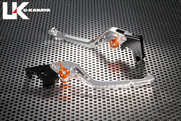 バイク用品 ハンドル レバーユーカナヤ U-KANAYA レバーセット GPタイプ ロング SV GD モンキー125 18-HO078-042-0503 4549950947974取寄品 スーパーセール