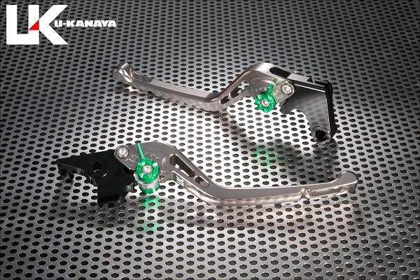 バイク用品 ハンドル レバーユーカナヤ U-KANAYA レバーセット GPタイプ ロング TI GD モンキー125 18-HO078-042-0506 4549950948216取寄品 スーパーセール