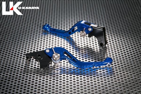 バイク用品 ハンドル レバーユーカナヤ U-KANAYA レバーセット GPタイプ ショート BL GN モンキー125 18-HO078-042-0604 4549950948742取寄品