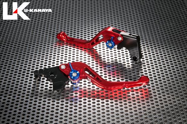 バイク用品 ハンドル レバーユーカナヤ U-KANAYA レバーセット GPタイプ ショート RD GD モンキー125 18-HO078-042-0605 4549950948773取寄品 セール
