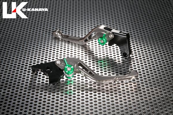 バイク用品 ハンドル レバーユーカナヤ U-KANAYA レバーセット GPタイプ ショート TI BK モンキー125 18-HO078-042-0606 4549950948841取寄品 スーパーセール