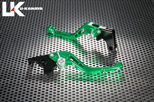 バイク用品 ハンドル レバーユーカナヤ U-KANAYA レバーセット GPタイプ ショート GN OR モンキー125 18-HO078-042-0607 4549950948995取寄品 セール