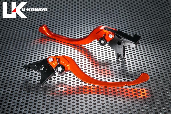 バイク用品 ハンドル レバーユーカナヤ U-KANAYA レバーセット ツーリング OR BK モンキー125 18-HO078-042-0808 4549950950202取寄品 スーパーセール
