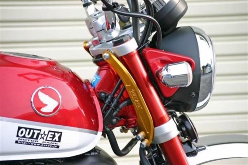 バイク用品 ハンドル ステアリングステム&トリプルツリーOUTEX アウテックス ステアリングステムスタビライザー Lゴールド モンキー125SS19-LG 4550255212612取寄品 スーパーセール