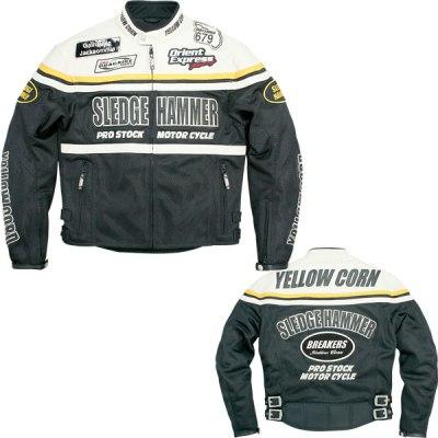 バイクパーツ モーターサイクル オートバイ バイク用品 ウェア ジャケットYeLLOWCORN イエローコーン SLEGE HAMMER 10 ジャケット アイボリー ブラック #3LBB-0104 4580238491000取寄品 セール