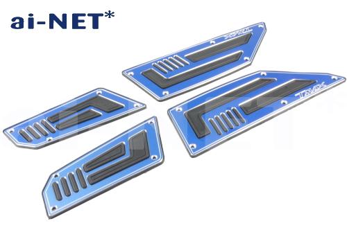バイク用品 ステップ ステップ&ステップボード&タンデムキットai-net アイネット ステップボード フロントリアセット ブルー TMAX53056243 4573125824661取寄品 スーパーセール
