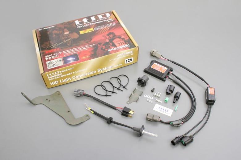 バイク用品 電装系 ヘッドライト&ヘッドライトバルブAbsolute アブソリュート HID ボルトオンKIT HI LO切替 H4DS 6500K 1400GTR -09HR2K236 4538792769844取寄品