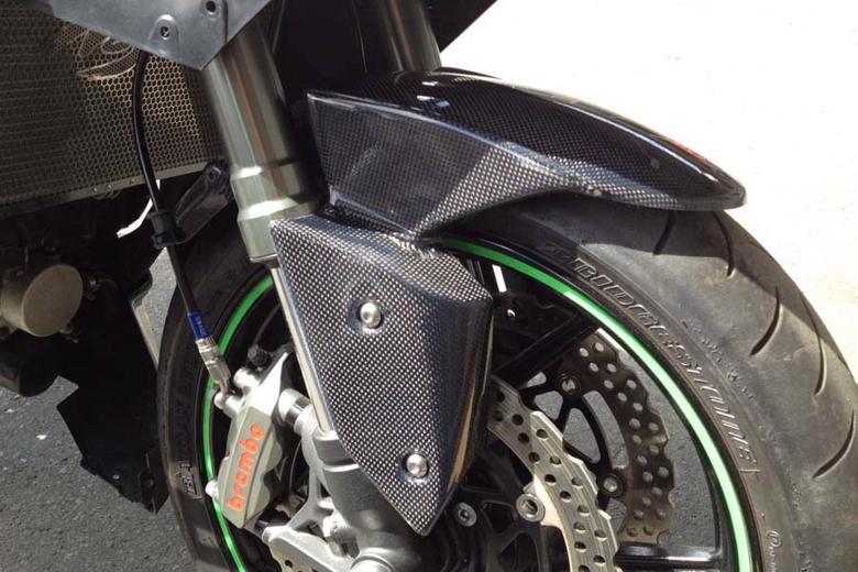 バイクパーツ モーターサイクル オートバイ セール バイク用品 外装 フェンダーNOJIMA フロントフェンダー カーボン綾織 Ninja1000 11-19ノジマエンジニアリング NCW634FF-CFA 取寄品