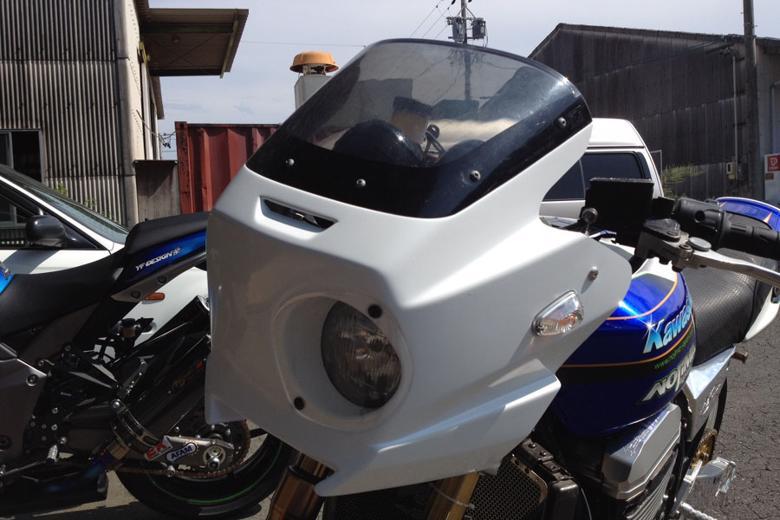 スーパーセール バイク用品 外装 カウルNOJIMA アッパーカウル シロゲル オレンジレンズ ZRX1200 1100ノジマエンジニアリング NJ-FCWO 取寄品