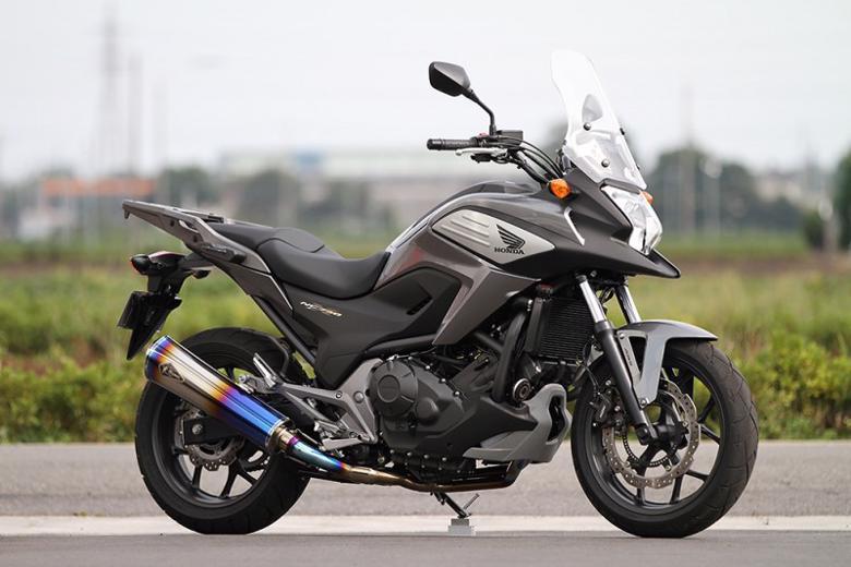 スーパーセール バイク用品 マフラー 4ストフルエキゾーストマフラーアールズギア ワイバンリアルSP シングル DB NC700X S・750X S・インテグラアールズギア RH20-01RD 取寄品