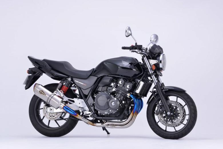 スーパーセール バイク用品 マフラー 4ストフルエキゾーストマフラーアールズギア ワイバンリアルSP シングル TI CB400SF SB 18 2BL-NC42アールズギア RH34-01ST 取寄品