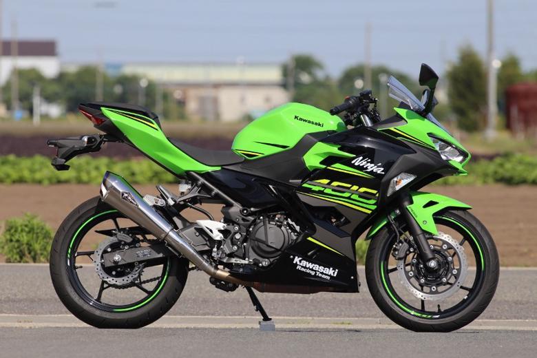 スーパーセール バイク用品 マフラー 4ストスリップオン&ボルトオンマフラーアールズギア ワイバンリアルSP S O タイプR TI Ninja400 18アールズギア RK32-03RT 取寄品